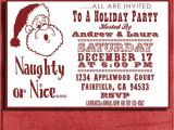 Naughty or Nice Party Invitations Holiday Naughty or Nice Party Invitation 4×6