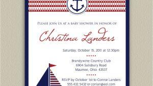 Nautical Baby Shower Invitations for Boys Ahoy It S A Boy Nautical Baby Shower Invitation by