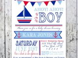 Nautical themed Baby Shower Invites Nautical theme Baby Shower Invitations