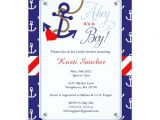 Nautical themed Baby Shower Invites Nautical themed Baby Shower Invitation
