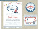 Nautical themed Baby Shower Invites Nautical themed Baby Shower Invitation Set by
