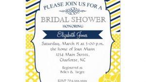 "Navy and Yellow Bridal Shower Invitations Navy Blue and Yellow Bridal Shower Invitation 5"" X 7"