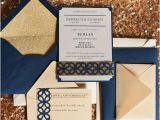 Navy Blue and Rose Gold Wedding Invitations 55 Elegant Navy and Gold Wedding Ideas Happywedd Com