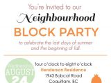 Neighborhood Block Party Invitation Template Free Block Party Invitation Digital File by Blankcanvasdesignco