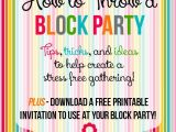 Neighborhood Block Party Invitation Template Free How to Throw A Block Party Printable Invitation Template