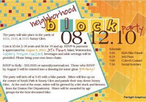Neighborhood Block Party Invitation Template Free Invite124 Jpg