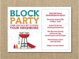 Neighborhood Block Party Invitation Template Free Neighborhood Block Party Cookout Invitation Grilling Out