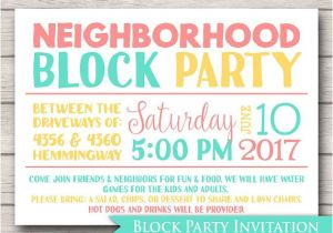 Neighborhood Block Party Invitation Template Free Neighborhood Block Party Invitation Announcement Invite