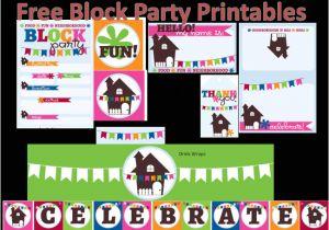 Neighborhood Block Party Invitation Template Free Neighborhood Block Party Printables Free