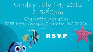 Nemo Birthday Party Invitations Travel In the Ocean at A Nemo Birthday Party Home Party
