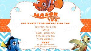 Nemo Party Invitation Template Finding Nemo Birthday Invitation Diy Digital by Modpoddesigns