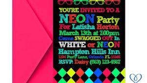 Neon Party Invitation Template Eccentric Designs by Latisha Horton New Party