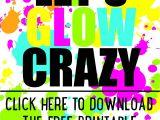 Neon Party Invitations Templates Free Diy Glow Party Invitations Free Printable 18th