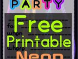 Neon Party Invitations Templates Free Diy Glow Party Teen Birthday Free Printable Neon