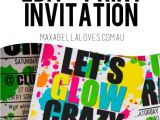 Neon Party Invitations Templates Free Free Glow Party Invitation Download Edit and Print