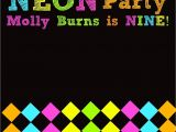 Neon Party Invitations Templates Free Neon Glow Party Invitations Template Editable and