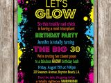 Neon Party Invitations Templates Free Neon Party Invitation Wording Glow In the Dark