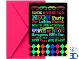 Neon Party Invitations Templates Free Neon Party Invitations Template Best Template Collection