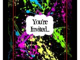 Neon Party Invitations Templates Free Party Invitations Very Best Neon Party Invitations Design