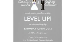 Nerdy Wedding Invitation Template Nerdy 8 Bit Bride Groom Wedding Invitation Zazzle Com