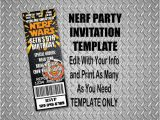 Nerf Gun Party Invitation Template Everything that I Need Nerf Wars Birthday Party