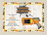 Nerf Gun Party Invitation Template Nerf Birthday Invitations Printable