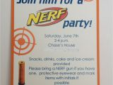 Nerf Gun Party Invitation Template Nerf Birthday Party Invitation Inspired by Hue