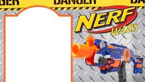 Nerf Gun Party Invitation Template Nerf Gun Party Invitation Templates Free Invitation