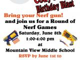 Nerf Gun Party Invitation Template Nerf Gun Party Invitations Printable
