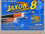 Nerf Gun Party Invitation Template Nerf Party Invitations Nerf Wars Invitations by Wolcottdesigns