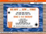Nerf Gun Party Invitation Template Pin On Boys Birthdays
