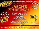 Nerf Gun Party Invitation Template Pin On Party Ideas Nerf Wars