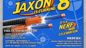 Nerf War Birthday Invitation Template Nerf Party Invitations Nerf Wars Invitations by Wolcottdesigns