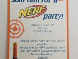 Nerf War Party Invitation Template Nerf Birthday Party Invitation Inspired by Hue