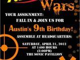 Nerf War Party Invitation Template Nerf Dart Digital Birthday Invitation by Stonelovedesigns