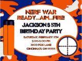 Nerf War Party Invitation Template Nerf Gun Nerf War Birthday Party Invitation Ajinvites On