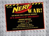 Nerf War Party Invitation Template Nerf Party Invitations Nerf Birthday Invitations Nerf Bday