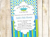 New Little Prince Baby Shower Invitations New Little Prince Baby Shower Invitation Card Blue Polka