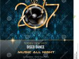 New Year Party Invitation 2017 2017 Happy New Year Disco Party Background for Your Flyers