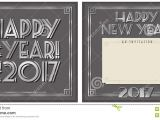 New Year Party Invitation 2017 New Year Party Invitation 2017 Stock Illustration Image