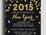 New Year Party Invitation Card Template Shining Polka Dot New Years Eve Printable Invitation Card