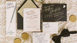 New Years Eve Wedding Invitation Ideas Sparkly New Year 39 S Eve Celebration Inspiration Green