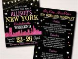 New York Party Invitation Template Editable New York City Bachelorette Party Invitation