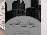 New York Party Invitation Template New York City Skyline Night On the town Bachelorette Party