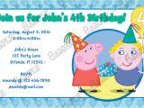 Nick Jr Printable Birthday Invitations Novel Concept Designs Nick Jr Peppa Pig Birthday Boy