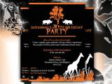 Nightclub themed Party Invitations African Party Invitations themed Night Birthdays Dinners