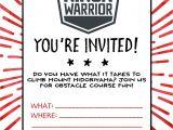 Ninja Birthday Party Invitation Template American Ninja Warrior Birthday Party Our Handcrafted Life