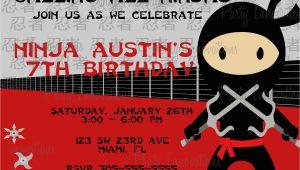 Ninja Birthday Party Invitation Template Free Free Printable Ninjago Birthday Invitation Free