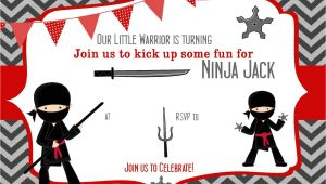 Ninja Birthday Party Invitation Template Free Pin by Bagvania Invitation On Bagvania Invitation Ninja
