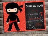 Ninja Birthday Party Invitation Template Karate Birthday Invitations for Kids Bagvania Free
